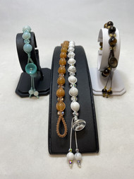 Natural Stone Micro Macramé Beaded Bracelets