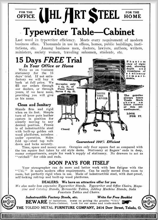 Typewriter Table-Cabinet / TOLEDO