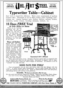 Typewriter Table-Cabinet / TOLEDO