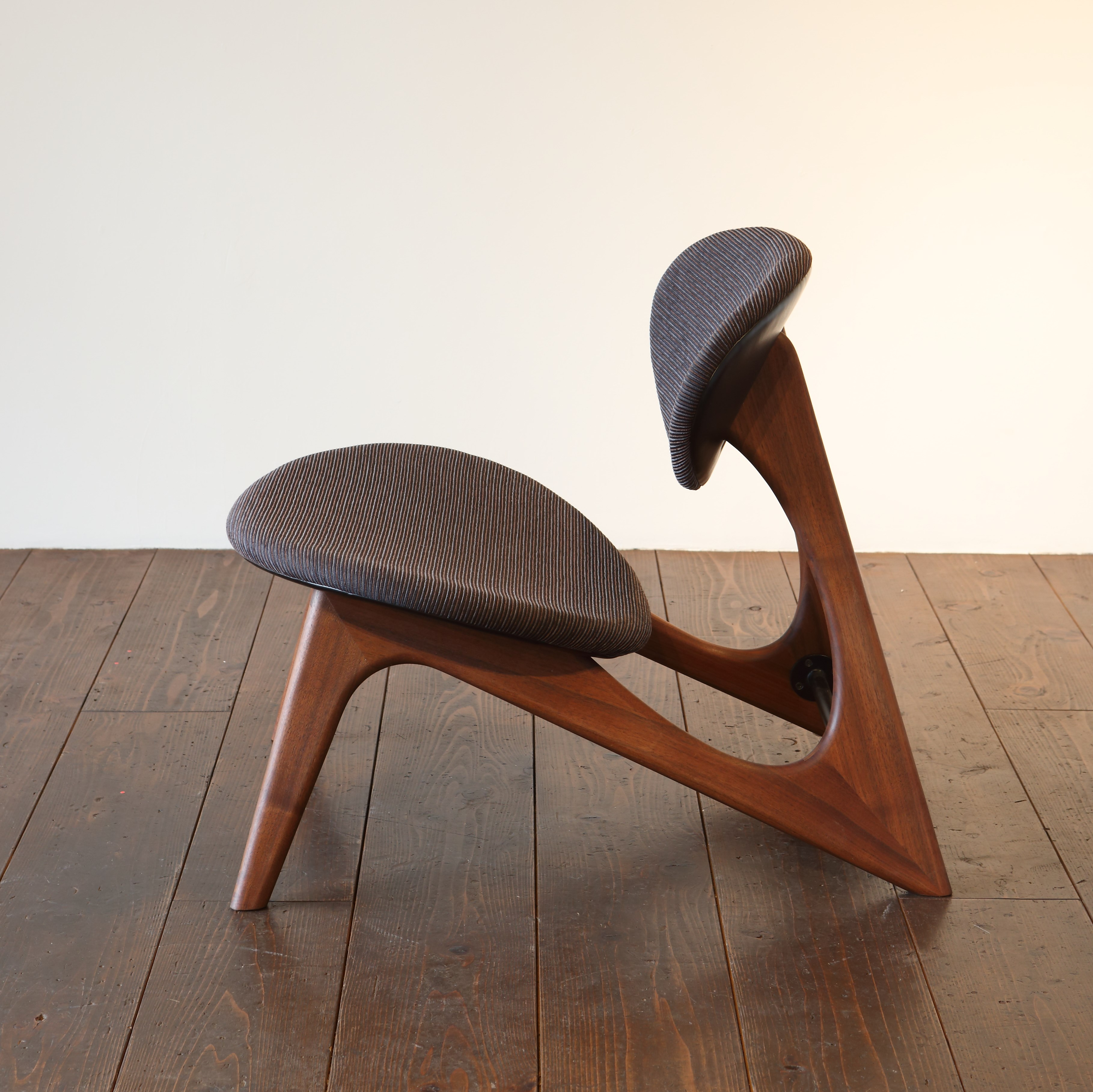 LOW CHAIR - walnut / wedge