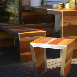 OUTDOOR TABLE SET / wedge