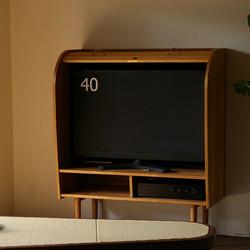 TAMBOUR TV CABINET / wedge