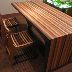 LOUVER LINE CHAIR & K TABLE / wedge