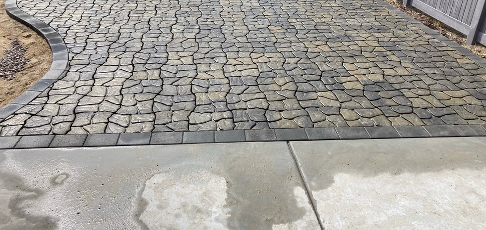 PAVER PATHWAY BETWEEN SHED PAD AND PATIO