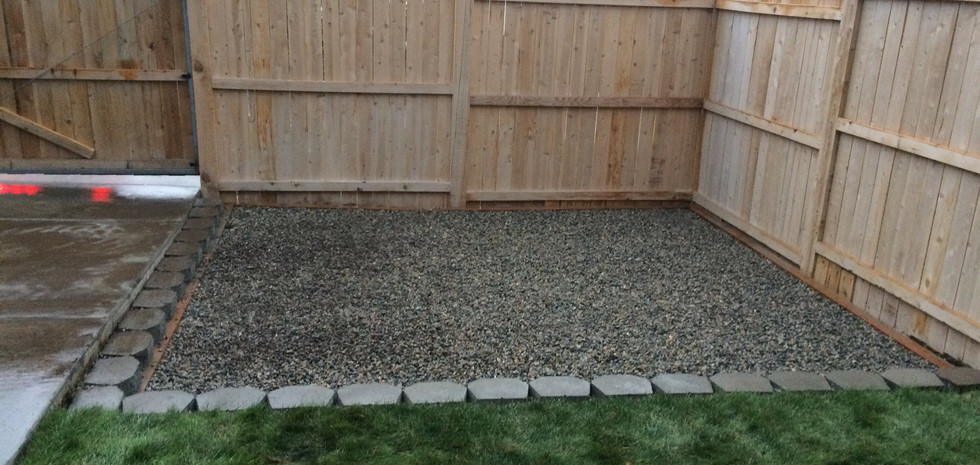 SHED PAD WITH PAVER BLOCK BOARDER