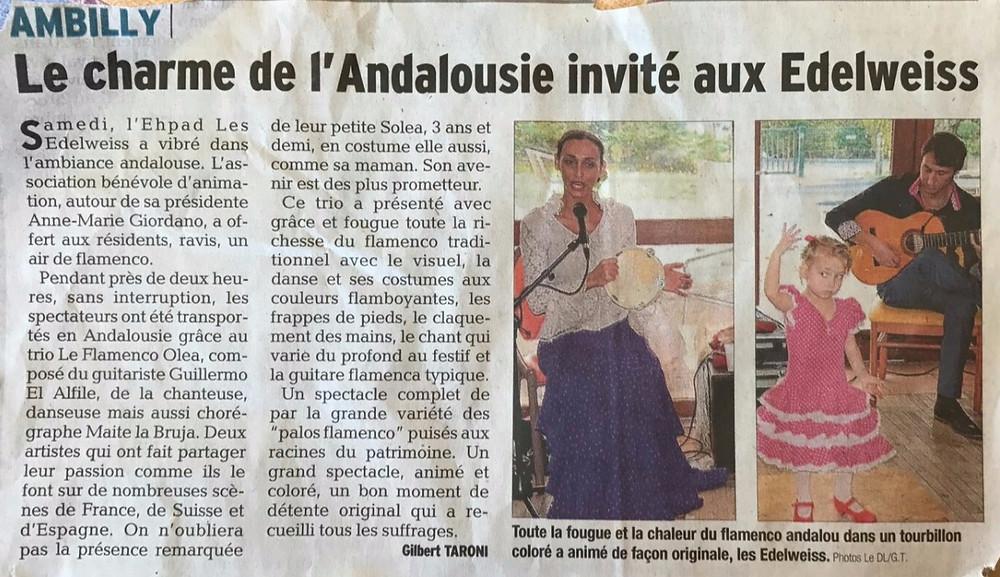 Article Dauphiné Flamenco Haute savoie