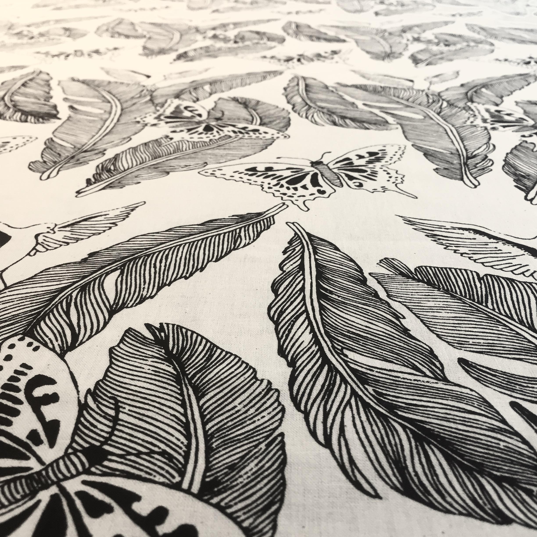 Hand printed Majken pattern