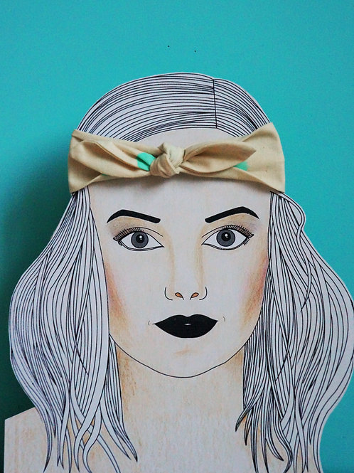 Signe Headband Small Bow Green Mint