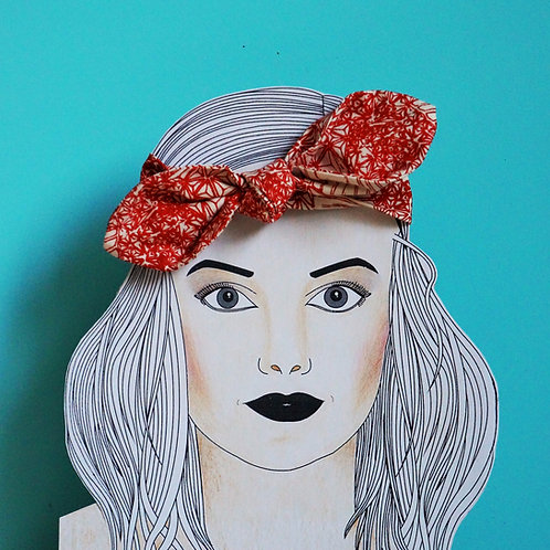 Hilda Headband Big Bow Rusty Red