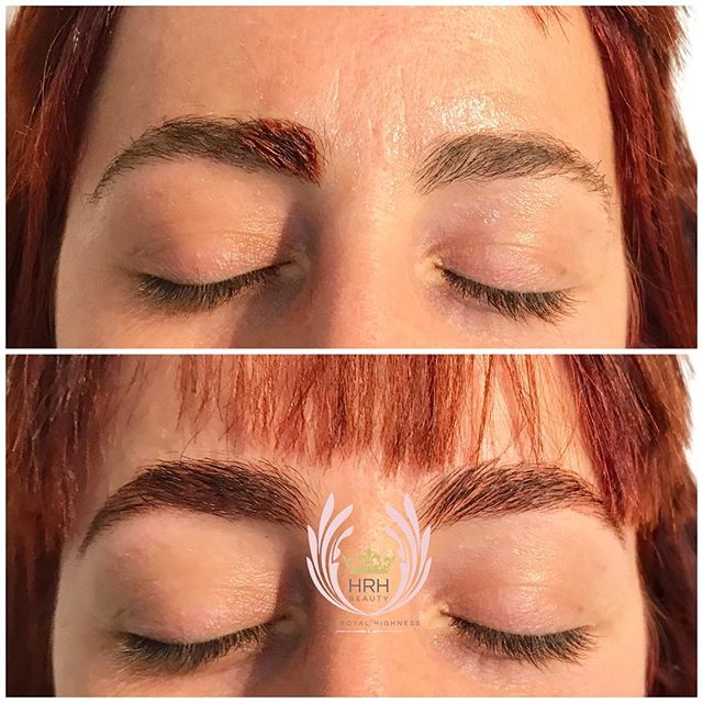 New brows to match her new do and colour what a difference your brows can make! 💃🎨🌈._._._