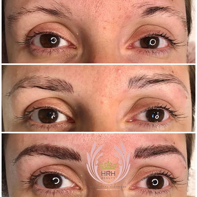 Combo brows - ombre and microblading