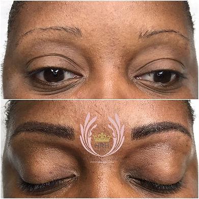 Hybrid Combination combo eyebrow tattoo Toronto