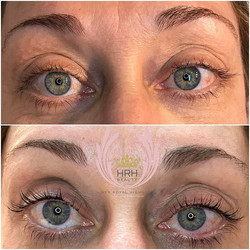 Lash tint and lift for these untamed, long, tangled lashes. We gave this beauty queen 👸🏼a more spr