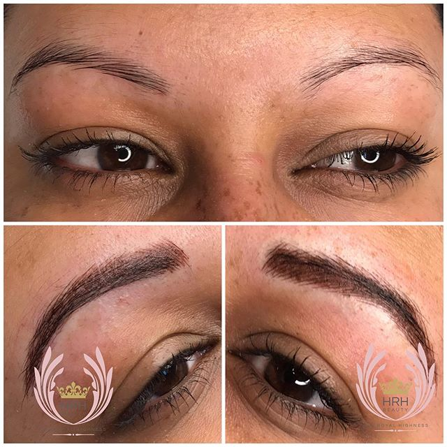 Ombre or soft shading & microblading