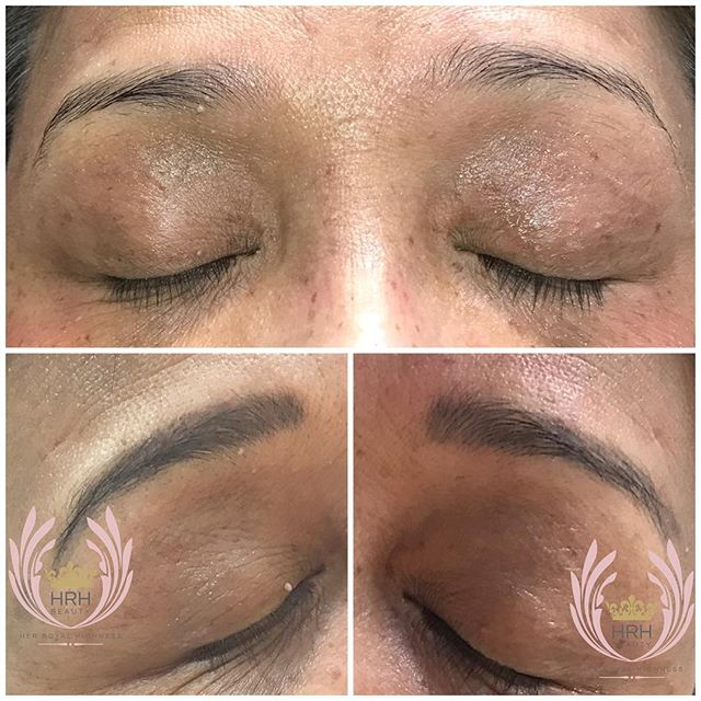 Beautifully healed combo eyebrows