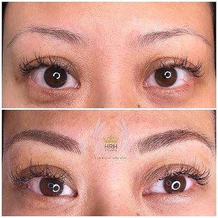 nano eyebrows toronto feathered hair strokes