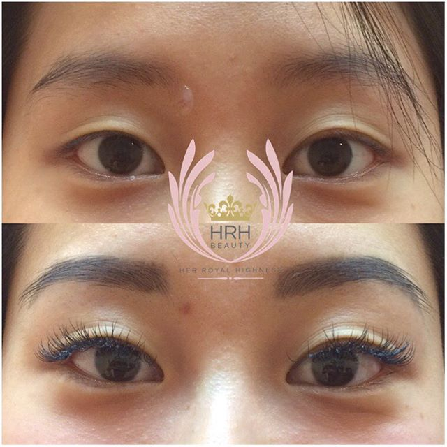 BRIDE-TO-BE 👰🏻 EYELASH & BROW COMBO. This bride to be is an eyelash and brow virgin, never pampers