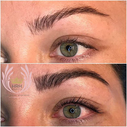 Close up of today's lashlift, lash tint and brow tint. So BEAUTIFUL!!! 😍🌸🌷🌺🌈._._._