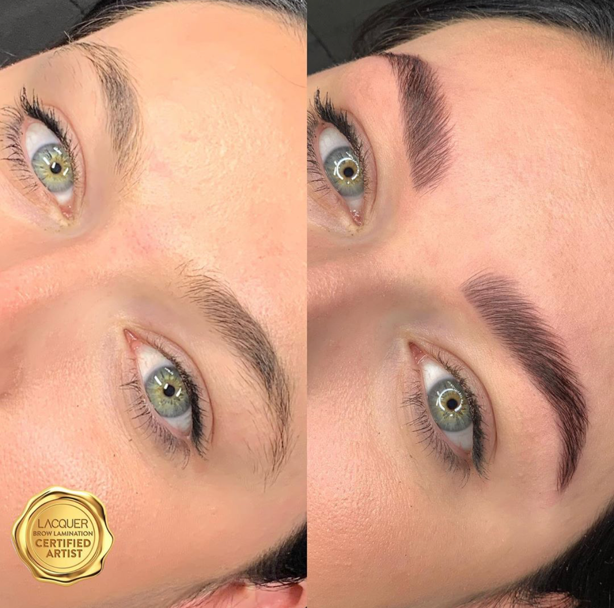 POLISHED LACQUER BROW with Nadia