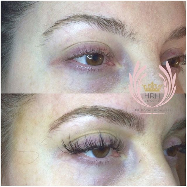 BROW & LASH COMBO for this lady before her move to California 👀💄👸🏻 This client wanted dramatic l