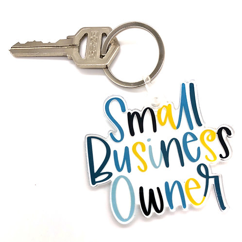 Small Business Owner Keychain