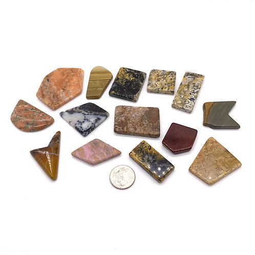Abstract Mixed Stones Lot
