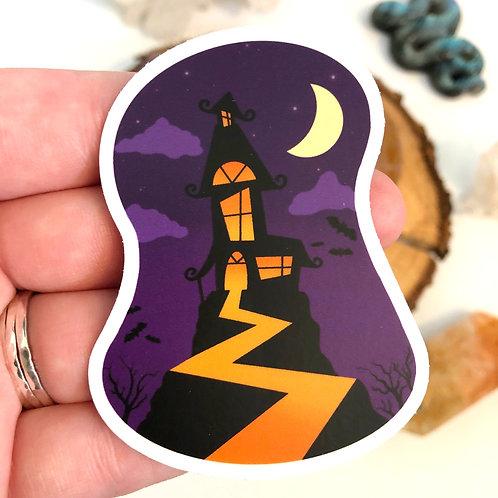 Spooky House Vinyl Sticker