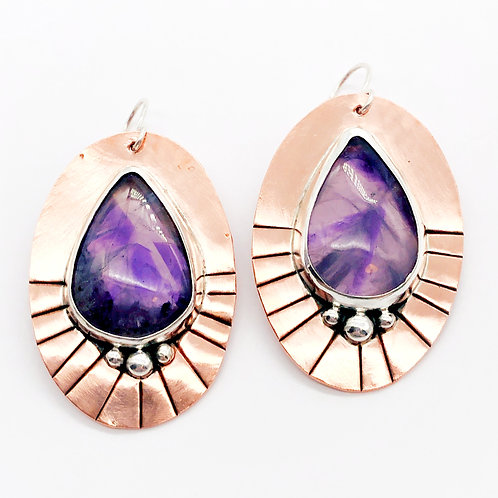 Dream Amethyst Mixed Metal Earrings