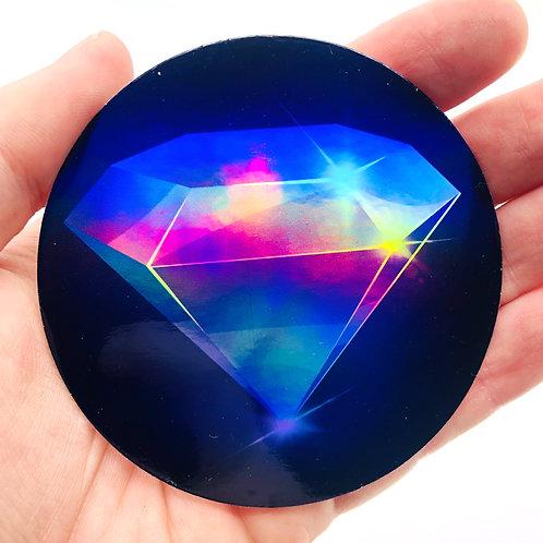 Holographic Diamond Vinyl Sticker