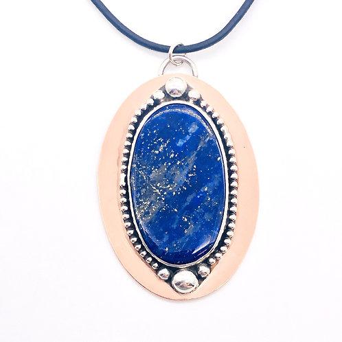 Lapis Lazuli Mixed Metal Necklace