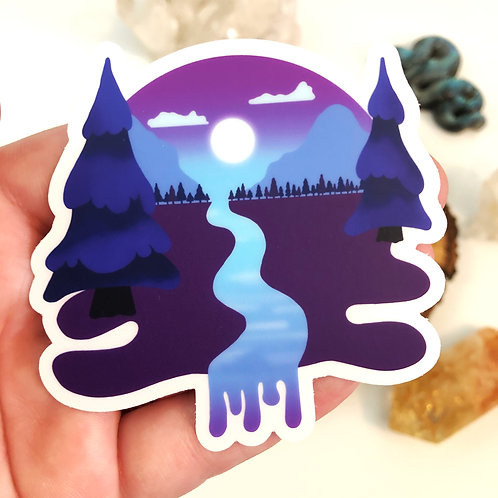 Moon River Vinyl Sticker