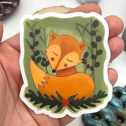 Freddie the Fox Vinyl Sticker