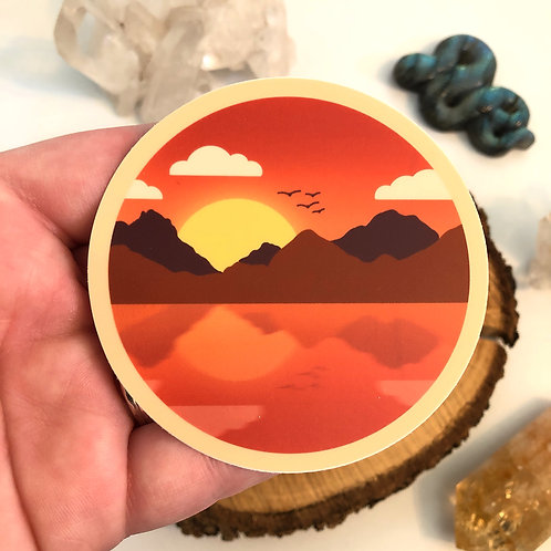Sunset Vinyl Sticker