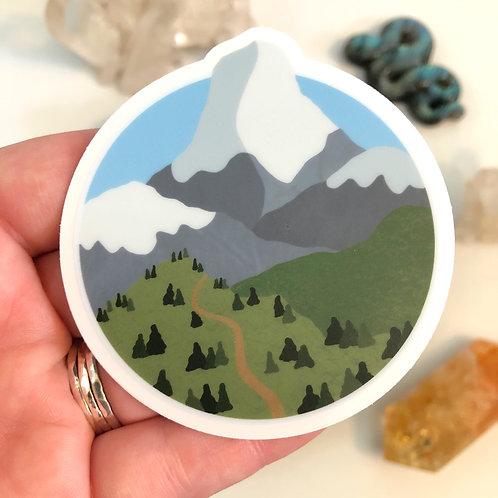 Mountain Escape Vinyl Sticker
