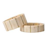 Moose and diamond bracelets