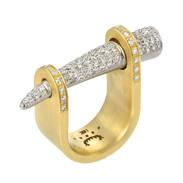Micro pave diamond 18k spike