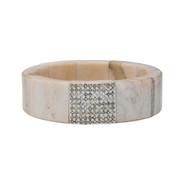 Moose and diamond bracelet, small