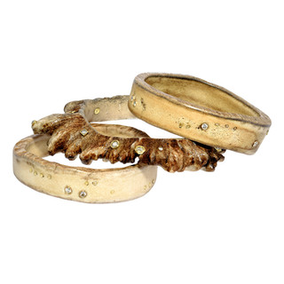 Moose antler slices with diamonds, naturally shed