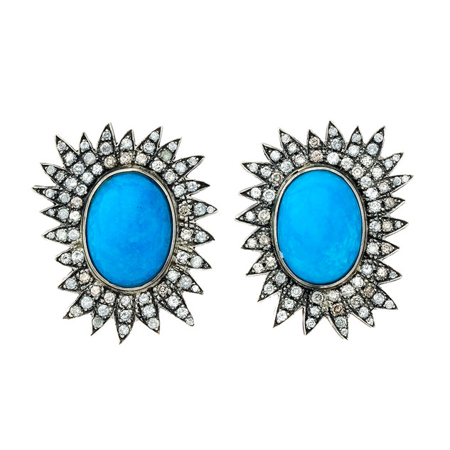 Sundance earrings, 4 carats and Arizona turquoise