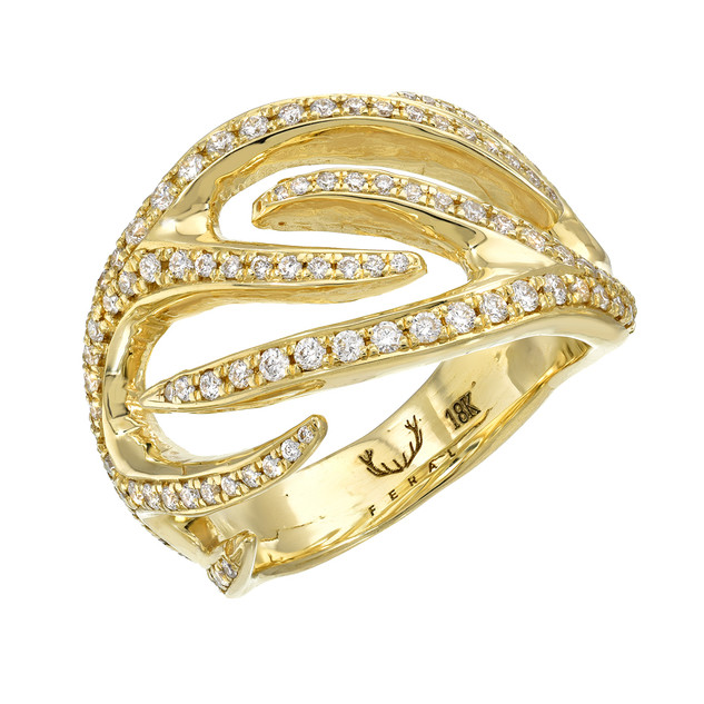 Gold Antler low profile ring