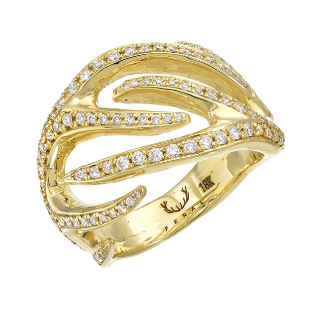 Gold Antler low profile ring
