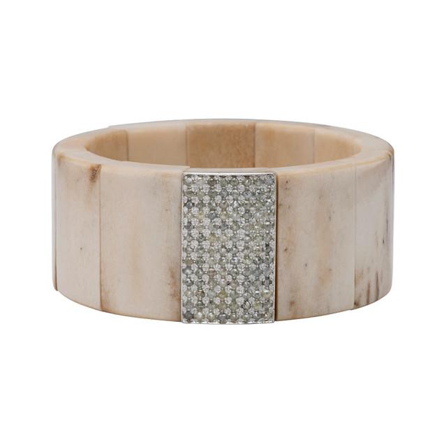 Moose antler and diamond bracelet
