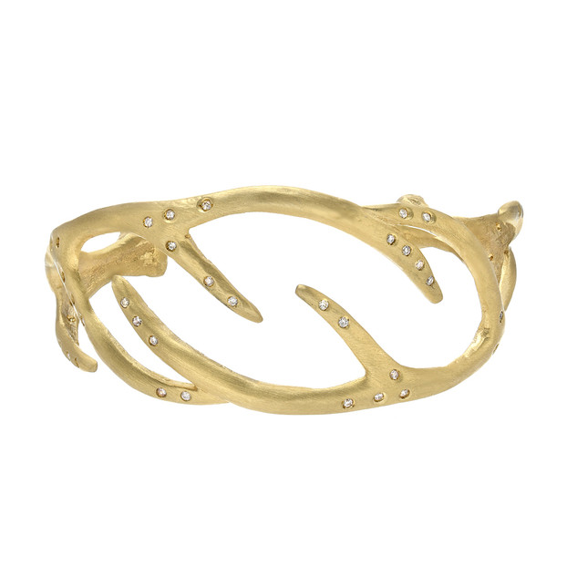 Antler cuff, 18k and diamonds