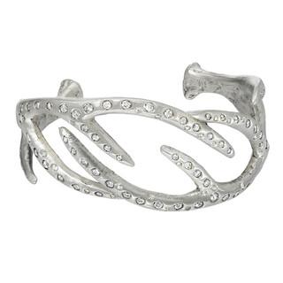 Blinged-out antler bracelet, 3.5 carats