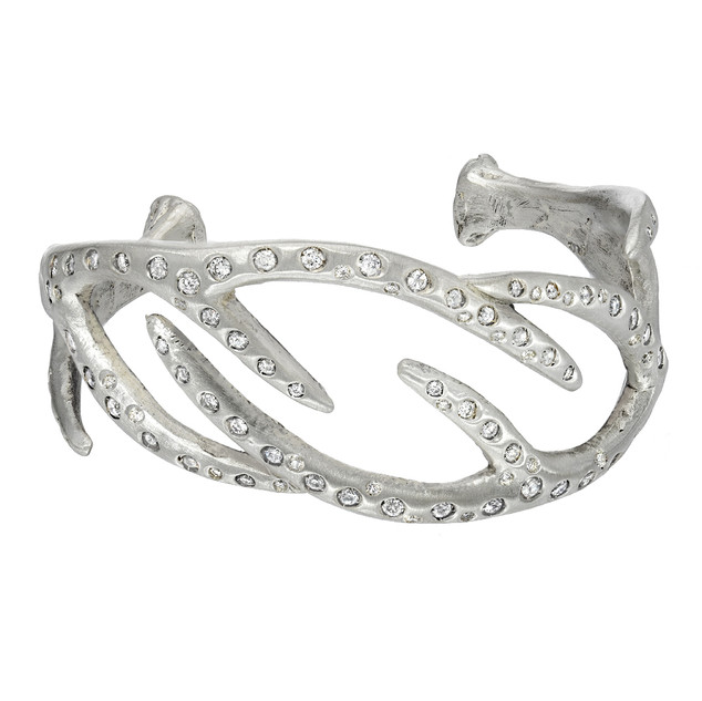 Blinged-out antler bracelet, 3.5 carats