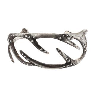 Dark silver antler cuff