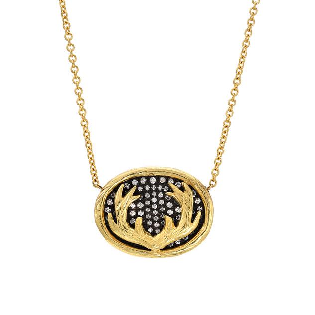 Diamond logo necklace