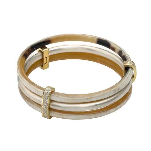 "Horn and diamond ""Rule of Three"" bracelet"""