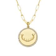 Gold Antler Medallion