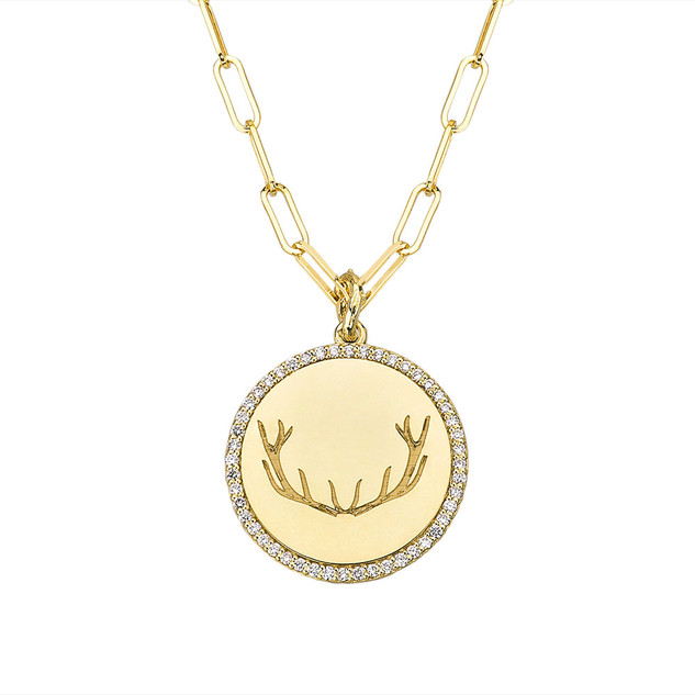 Gold Antler Medallion